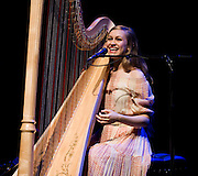 LONDON, UK - MAY 10: Joanna Newsom performs on stage at the Royal Festival Hall on May 11th, 2010 in London, United Kingdom. (Photo by Philip Ryalls/Redferns)**Joanna Newsom