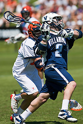 Villanova Wildcats Attack Tim Langan, Jr. (2) shoots against UVA.  The #5 ranked Virginia Cavaliers defeated the #19 ranked Villanova Wildcats 18-6 in the first round of the 2008 NCAA Men's Lacrosse Tournament the University of Virginia's Klockner Stadium in Charlottesville, VA on May 10, 2009.