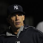New York Yankees manager Joe Girardi in the dugout during the New York Mets Vs New York Yankees MLB regular season baseball game at Citi Field, Queens, New York. USA. 20th September 2015. Photo Tim Clayton