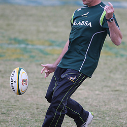 DURBAN, SOUTH AFRICA - JUNE 06, Rassie Erasmus during the South African national rugby team training session at Northwood High School on June 06, 2012 in Durban, South Africa<br /> Photo by Steve Haag / Gallo Images