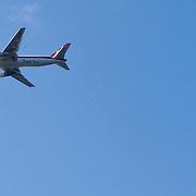 NLD/Amsterdam/20111031- Laatste vlucht van Martinair toestel boven Amsterdam na verkoop aan KLM