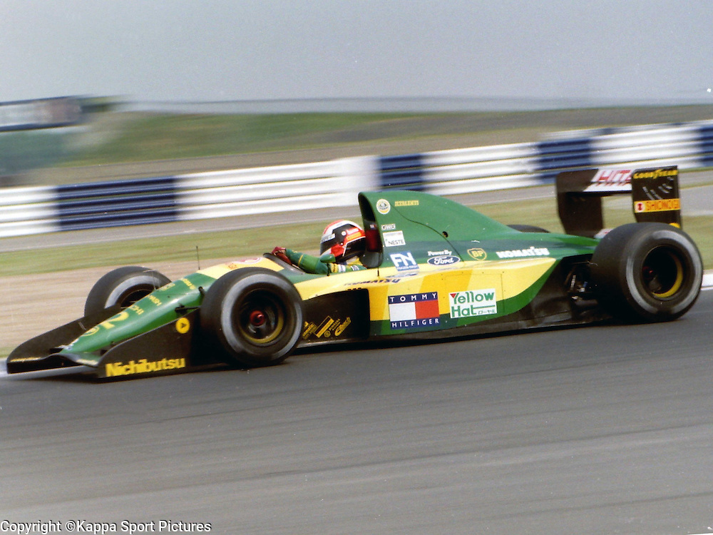 Johnny Herbet, British, Lotus Ford, British Formula One, Practice Grand Prix, Sllverstone, 12th July 1992