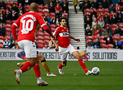 Middlesbrough defender George Friend (3)  during the EFL Sky Bet Championship match between Middlesbrough and Nottingham Forest at the Riverside Stadium, Middlesbrough, England on 6 October 2018.