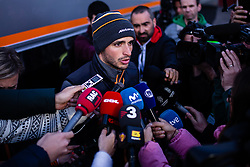 February 18, 2019 - Montmelo, BARCELONA, Spain - Carlos Sainz Jr from Spain with 55 Mclaren F1 Team - Renault MCL34 portrait at press consference during the Formula 1 2019 Pre-Season Tests at Circuit de Barcelona - Catalunya in Montmelo, Spain on February 18. (Credit Image: © AFP7 via ZUMA Wire)