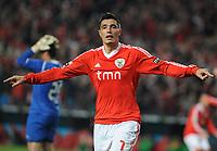 20120114: LISBON, PORTUGAL – Liga Zon Sagres 2011/2012: SL Benfica vs V. Setubal. In picture: Cardozo (Benfica).<br />PHOTO: Alvaro Isidoro/CITYFILES