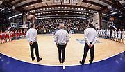 DESCRIZIONE : Campionato 2014/15 Dinamo Banco di Sardegna Sassari - Openjobmetis Varese<br /> GIOCATORE : Biggi Chiari Loguzzo<br /> CATEGORIA : Arbitro Referee Panoramica Before Pregame<br /> SQUADRA : AIAP<br /> EVENTO : LegaBasket Serie A Beko 2014/2015<br /> GARA : Dinamo Banco di Sardegna Sassari - Openjobmetis Varese<br /> DATA : 19/04/2015<br /> SPORT : Pallacanestro <br /> AUTORE : Agenzia Ciamillo-Castoria/L.Canu<br /> Predefinita :