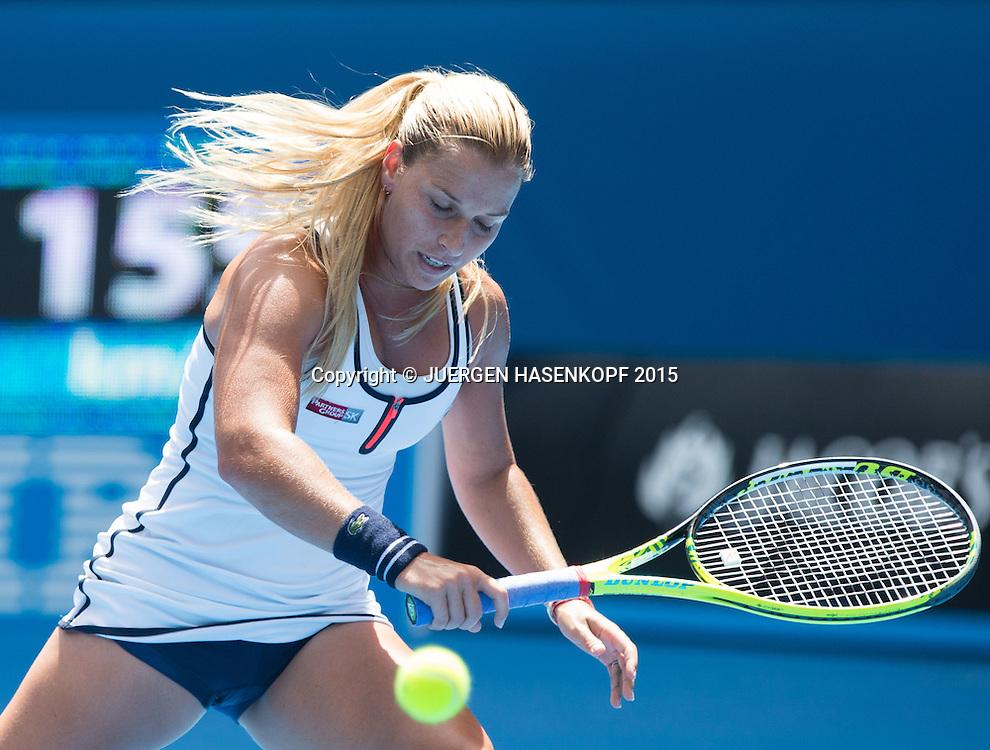 Dominika Cibulkova (SVK)<br /> <br /> Tennis - Australian Open 2015 - Grand Slam ATP / WTA -  Melbourne Olympic Park - Melbourne - Victoria - Australia  - 28 January 2015.