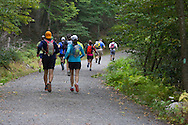 Cragsmoor, New York - The first wave of runners heads up the trail at Sam's Point Preserve at the start of the Shawangunk Ridge Trail Run/Hike 32-mile race on Sept. 20, 2014.