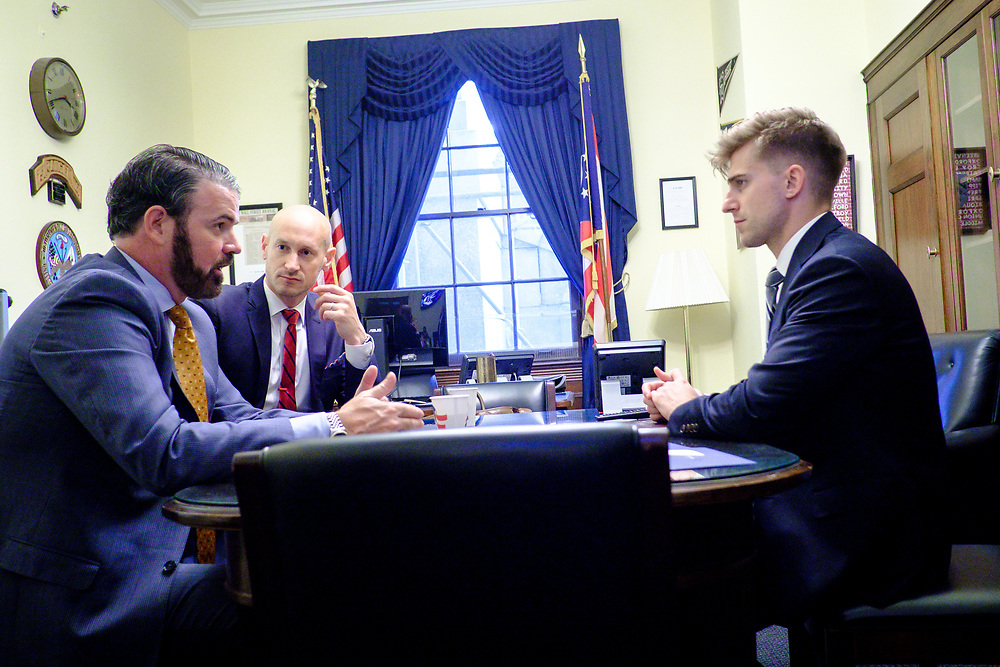 Following Vestwell CEO Aaron Schumm, CCO Mike Shuckerow and Special ERISA Advisor, Peter Kennedy, as they visit with a staff member for Senator Sherrod Brown (D-OH)  on Capitol Hill.