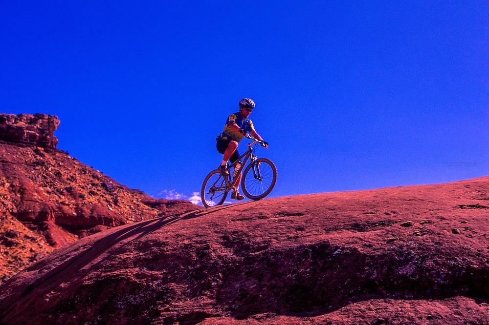 Mountain biking, Bear-Claw Poppy Trail, near St. George, Utah
