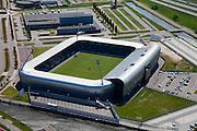Nederland, Zuid-Holland, Den Haag, 12-05-2009; Haags Kwartier met stadion ADO-Den Haag in Forepark (Leidscheenveen). Fans noemen het met aluminium beklede stadion het Aad Mansveld Stadion..Swart collectie, luchtfoto (toeslag); Swart Collection, aerial photo (additional fee required); .foto Siebe Swart / photo Siebe Swart