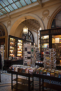 France, Paris. Historical Covered passages of Paris. Colbert gallery/ gallerie Colbert