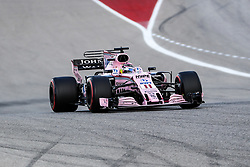 October 21, 2017 - Austin, Texas, U.S - Force India driver Sergio Perez (11) of Mexico in action during the final practice before the Formula 1 United States Grand Prix race at the Circuit of the Americas race track in Austin,Texas. (Credit Image: © Dan Wozniak via ZUMA Wire)