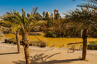 Qasr-Al-Yahud on the River Jordan, where Jesus was baptized by John the Baptist, Israel.