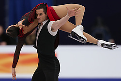 January 20, 2018 - Moscow, Russia - Laurence Fournier Beaudry and Nikolaj Sorensen of Denmark  perform during an ice dance free dance event at the 2018 ISU European Figure Skating Championships, at Megasport Arena in Moscow, on January 20, 2018. (Credit Image: © Igor Russak/NurPhoto via ZUMA Press)