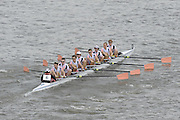 Chiswick, London, GREAT BRITAIN,  Leander club 2 Lightweights, starting the the race, looking from Chiswick Bridge. 2011 Head of the River Race. Mortlake to Putney,  Championship Course River Thames on Saturday  02/04/2011  [Mandatory Credit, Peter Spurrier/Intersport-images]