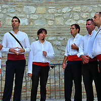 Cappella Singers Performing Inside The Vestibule in Split, Croatia<br />