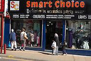 Population mélangée dans le centre de Bradford.
