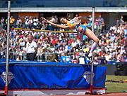 Italian Alessia Trost takes off during the women's High Jump at the Sainsbury's Birmingham Grand Prix IAAF Diamond League Meeting at Alexandra Stadium, Birmingham, West Midlands, England on June  07  2015. (Steve Flynn/Image of Sport)