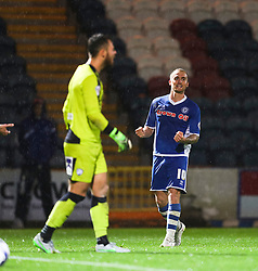 Lewis Alessandra of Rochdale celebrates after scoring the winning goal, 2-1  - Mandatory byline: Matt McNulty/JMP - 07966 386802 - 06/10/2015 - FOOTBALL - Spotland Stadium - Rochdale, England - Rochdale v Chesterfield - Johnstones Paint Trophy