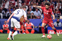 June 1, 2019 - Madrid, Spagna - Foto Alfredo Falcone - LaPresse.01/06/2019 Madrid ( Spagna).Sport Calcio.Liverpool - Tottenham.Finale Uefa Champions League 2018 2019 - Stadio Wanda Metropolitano di Madrid.Nella foto: Jan Vertonghen del Tottenham, Mohamed Salah del Liverpool.Photo Alfredo Falcone - LaPresse.01/06/2019 Madrid (spain).Sport Soccer.Liverpool - Tottenham.Final Uefa Champions League  2018 2019 - Wanda Metropolitano Stadium of Madrid.In the pic: Jan Vertonghen of Tottenham, Mohamed Salah of Liverpool (Credit Image: © Alfredo Falcone/Lapresse via ZUMA Press)