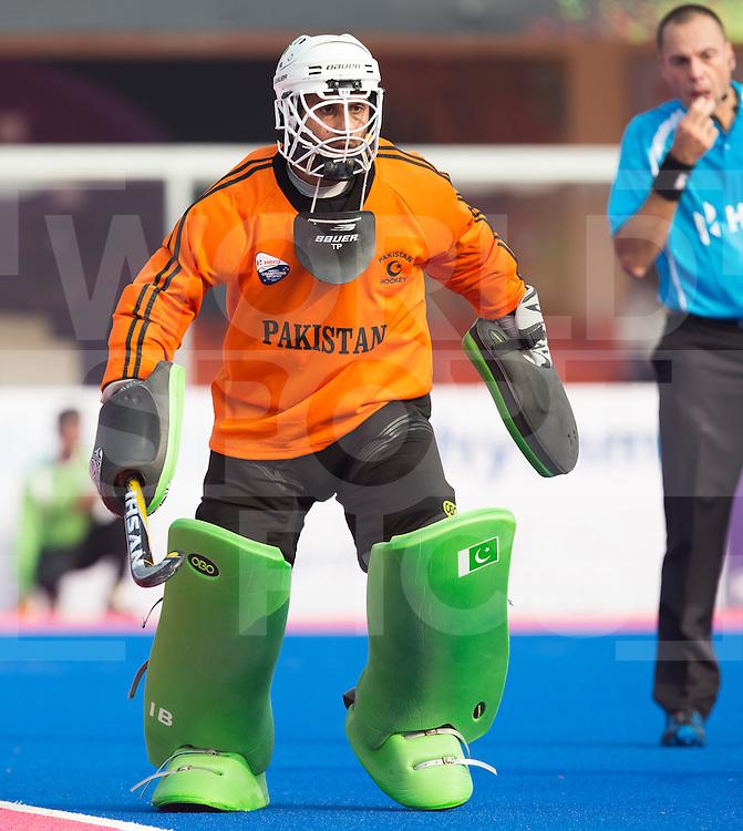 BHUBANESWAR  (INDIA)  - keeper Ali Shan of Pakistan. Champions Trophy Hockey men. Day 1. Belgium vs Pakistan. PHOTO  KOEN SUYK