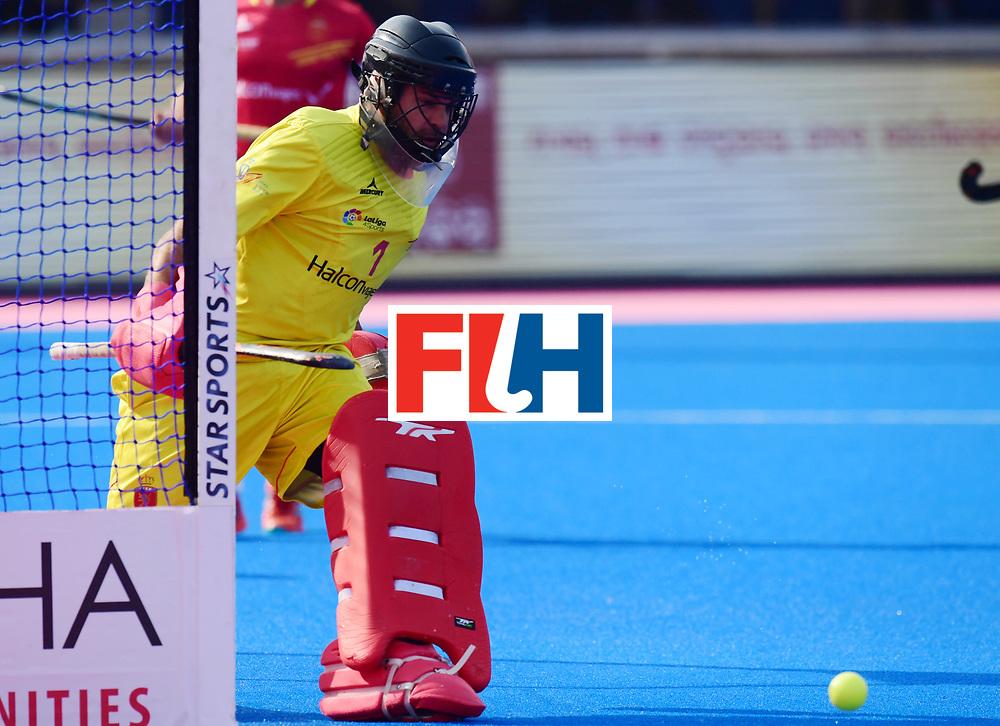 Odisha Men's Hockey World League Final Bhubaneswar 2017<br /> Match id:04<br /> Netherlands vs Spain<br /> Foto: keeper Quico Cortes (Esp) <br /> WORLDSPORTPICS COPYRIGHT FRANK UIJLENBROEK