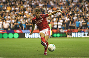 Matty Cash (11) of Nottingham Forest during the EFL Cup match between Nottingham Forest and Derby County at the City Ground, Nottingham, England on 27 August 2019.