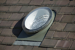Dome at top of light pipe on Eco House at The Wintles; Bishops Castle,