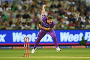 14th January 2019, Melbourne Cricket Ground, Melbourne, Australia; Australian Big Bash Cricket, Melbourne Stars versus Hobart Hurricanes;  James Faulkner of the Hobart Hurricanes bowls the ball