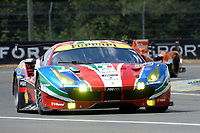 Davide Rigon (ITA) / Sam Bird (GBR) / Andrea Bertolini (ITA)  #71 AF Corse Ferrari 488 GTE, . Le Mans 24 Hr June 2016 at Circuit de la Sarthe, Le Mans, Pays de la Loire, France. June 15 2016. World Copyright Peter Taylor/PSP.