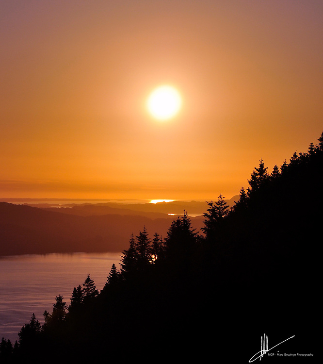 Mid June in Bergen, Norway. The sun barely sets. This image was taken at 10:30 pm By Marc Geuzinge Photography