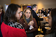 Adi Kind of JFrog networks during the Bay Area Corporate Counsel Awards at The Westin San Francisco Airport in Millbrae, California, on March 18, 2019. (Stan Olszewski for Silicon Valley Business Journal)