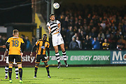 Forest Green Rovers Omar Bugiel(11) heads the ball clear during the EFL Sky Bet League 2 match between Cambridge United and Forest Green Rovers at the Cambs Glass Stadium, Cambridge, England on 26 September 2017. Photo by Shane Healey.