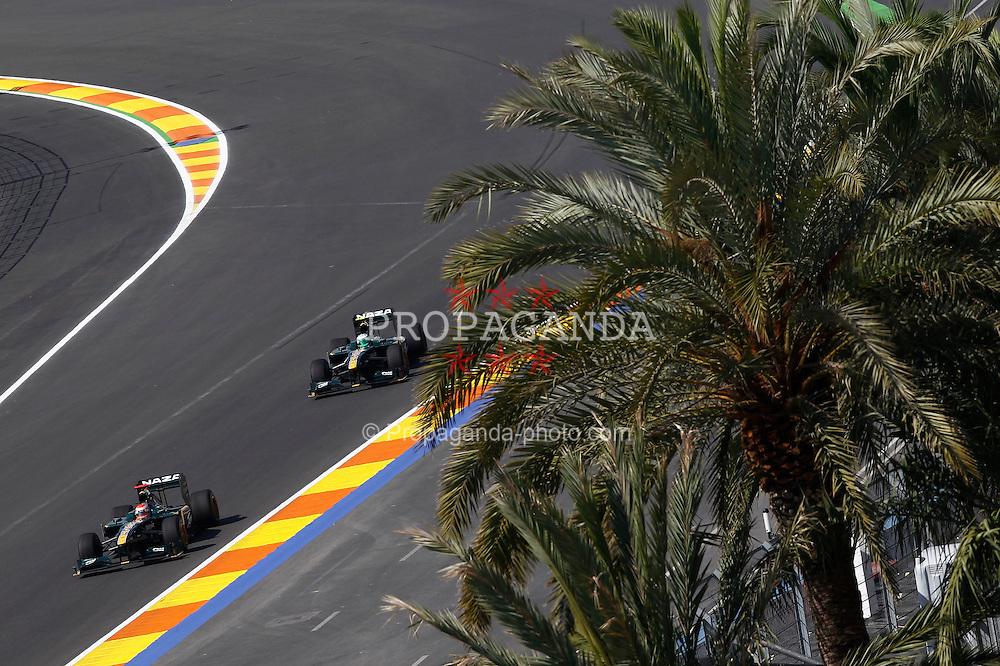 Motorsports / Formula 1: World Championship 2010, GP of Europe, 18 Jarno Trulli (ITA, Lotus F1 Racing), 19 Heikki Kovalainen (FIN, Lotus F1 Racing),
