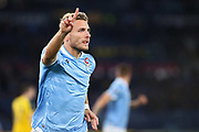 Ciro Immobile of Lazio celebrates after scoring 1-0 goal during the UEFA Europa League, Group E football match between SS Lazio and Celtic FC on November 7, 2019 at Stadio Olimpico in Rome, Italy - Photo Federico Proietti / ProSportsImages / DPPI