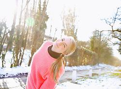 Teenage Girl Posing on Country Road
