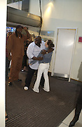 """Lennox Lewis and Ade<br />. The UK Premiere of """"The Island"""" at the Odeon Leicester Square, London. 7 August 2005. , ONE TIME USE ONLY - DO NOT ARCHIVE  © Copyright Photograph by Dafydd Jones 66 Stockwell Park Rd. London SW9 0DA Tel 020 7733 0108 www.dafjones.com"""