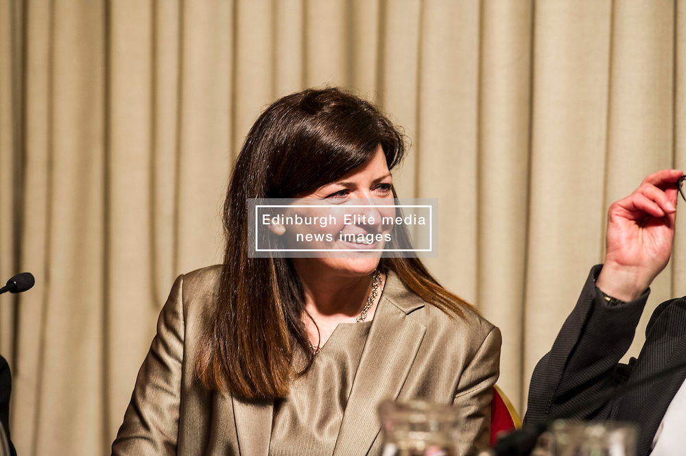 Pictured: Iseabail Mactaggart.<br /> <br /> Scottish event to inform the 'Future for Public Service Television Inquiry' chaired by Lord Puttnam. Speakers are Angela Haggerty, Editor, Common Space; David Fleetwood, Policy Official, Scottish Government; Stuart Cosgrove, journalist, broadcaster and former Head of Programmes (Nations and Regions), Channel 4; Professor Neil Blain, Professor Emeritus of Communications at the University of Stirling; John McCormick FRSE, Chair of the Scottish Screen Leadership Group, and former Controller of BBC Scotland <br /> Ger Harley   EEm 13 April 2016