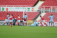 Swindon's James Collins (9 in centre ) celebrates after he scores his sides 2nd goal to make it 2-2. . NPower league one, Swindon Town v Coventry city at the County Ground in Swindon on Saturday 13th October 2012.  pic by  Andrew Orchard, Andrew Orchard sports photography,