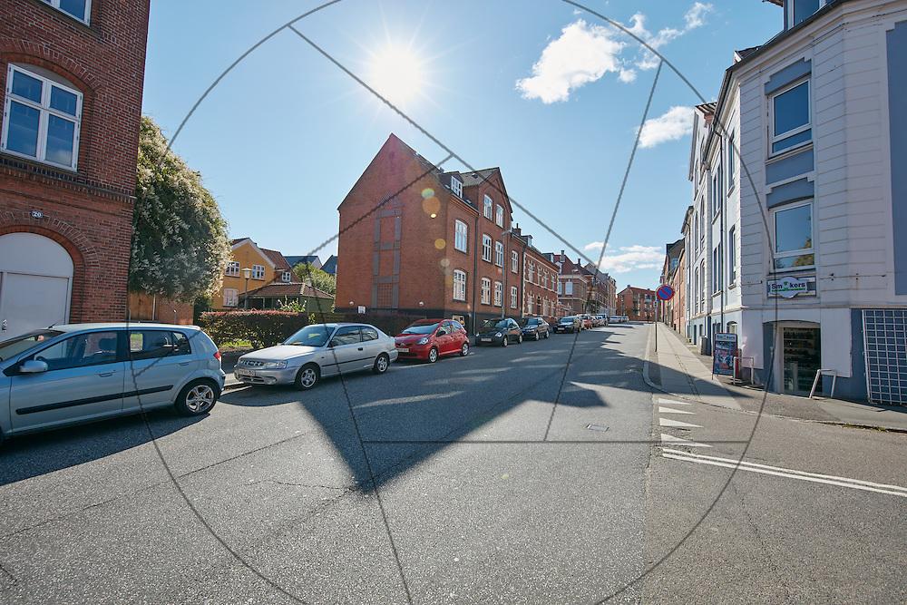 Absalonsgade i Slagelse, registrering for renovering ifm. Campus SDU 's afdeling i Slagelse , byrum , registrering før bygning af Campus SDU Slagelse,