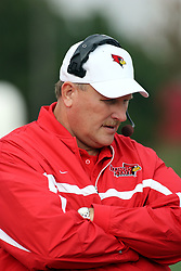 13 October 2007: Redbird head coach Denver Johnson. The Indiana State Sycamores were jacked 69-17 by the Illinois State Redbirds at Hancock Stadium on the campus of Illinois State University in Normal Illinois.