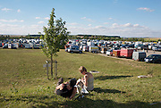 The pilot's camping area at the Chambley site. <br /> Le camping des pilotes sur le site de Chambley.