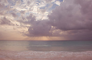 Storm Clouds over the sea at Pink Sands Beach, Harbour Island, The Bahamas