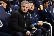 Chelsea Manager Jose Mourinho during the Barclays Premier League match between Tottenham Hotspur and Chelsea  at White Hart Lane, London<br /> Picture by Richard Blaxall/Focus Images Ltd +44 7853 364624<br /> 01/01/2015