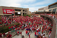 Badger fans at Badger Bash at Union South in 2012.