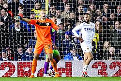 Niki Maenpaa of Bristol City points as Kemar Roofe of Leeds United looks on - Mandatory by-line: Robbie Stephenson/JMP - 24/11/2018 - FOOTBALL - Elland Road - Leeds, England - Leeds United v Bristol City - Sky Bet Championship