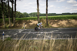 Grace Brown (AUS) of Team Australia digs deep on Stage 4 of the Lotto Thuringen Ladies Tour - a 18.7 km individual time trial, starting and finishing in Schmolln on July 16, 2017, in Thuringen, Germany. (Photo by Balint Hamvas/Velofocus.com)