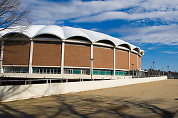 University Hall, an 8,457 seat multi-purpose arena opened in 1965, and was replaced by the John Paul Jones Arena in 2006 - University of Virginia, Charlottesville, VA, January 6, 2008.