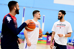 Lewis Champion of Bristol Flyers and Chris Taylor of Bristol Flyers warms up prior to tip off - Photo mandatory by-line: Ryan Hiscott/JMP - 17/01/2020 - BASKETBALL - SGS Wise Arena - Bristol, England - Bristol Flyers v London City Royals - British Basketball League Championship